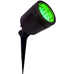 Espeto com Led's Verde Key West Preto