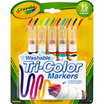 Canetinha Tri-Color Markers 5 Cores - Crayola