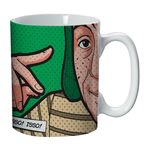 Caneca de Porcelana Verde 135ml Chaves Urban