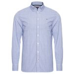 Camisa masculina custom dazzling check - azul - tommy hilfiger