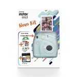 Kit Instax Mini 9 Azul Aqua com Porta Fotos + Pack 10 Poses