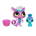 Littlest Pet Shop Totally Talented Macaco Lemur E Pavão Real - Hasbro